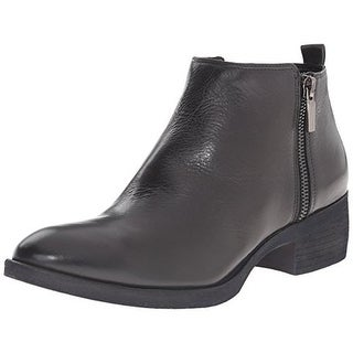 Kenneth Cole New York Womens Levon Solid Stacked Heel Ankle Boots - 9 medium (b,m)