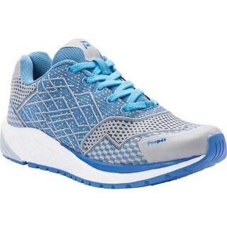 Propet Women's One Sneaker Blue/Silver Mesh