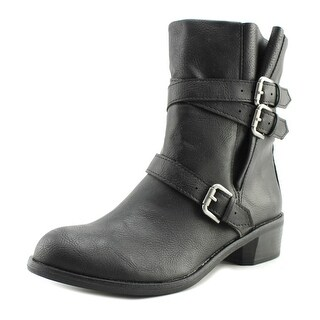 Style & Co Baxten Women Round Toe Synthetic Black Ankle Boot