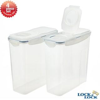 Lock&Lock 4 Piece Plastic Cereal Storage Container Set
