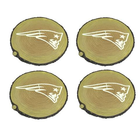 New England Patriots Set of 4 Glow in the Dark Tree Stump Stepping Stones - 0.75 X 12 X 12 inches