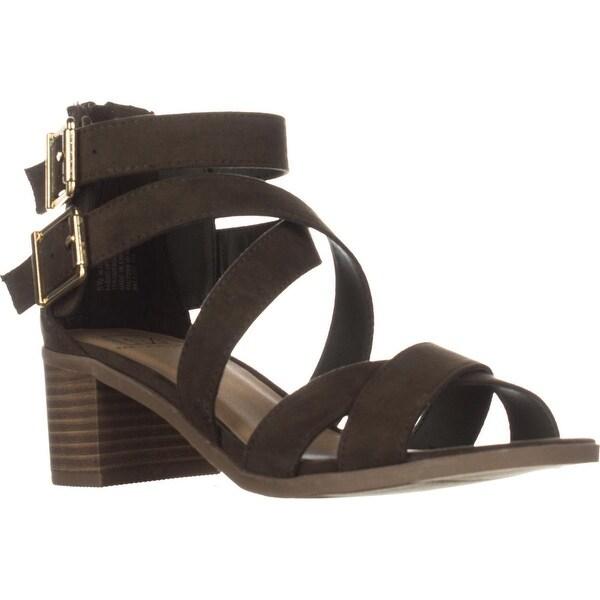 MG35 Danee Block Heel Strappy Sandals, Olive