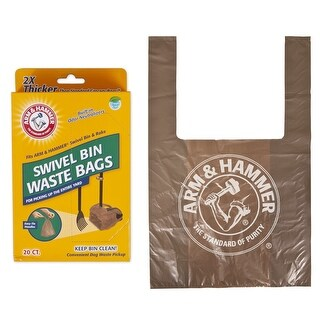 Arm & Hammer 71035 Swivel Bin Replacement Waste Bag, 20-Count