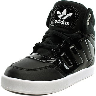 Adidas Dropstep EL Toddler  Round Toe Leather Black Sneakers
