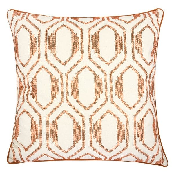 Homey Cozy Embroidery Cotton Throw Pillow Cover Insert Set Of 2 Overstock 32191604