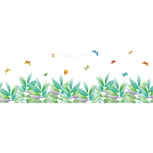 Grass and Butterfly Wall Stickers Self-stick Art Decal for Living Room Bedroom
