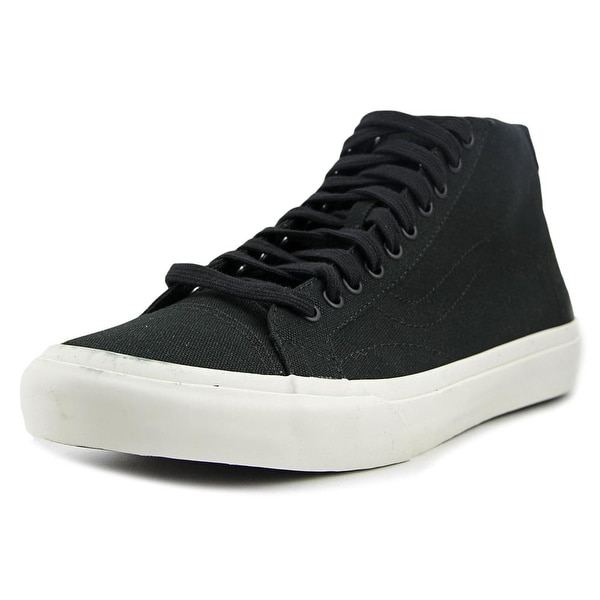 Vans Court Mid Men Round Toe Canvas Black Skate Shoe
