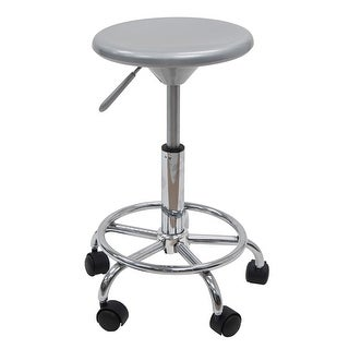 Offex Studio Stool - Silver/Chrome