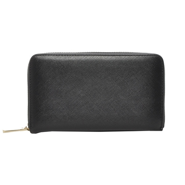 Classic Genuine Leather Zip Around Wallet for Women