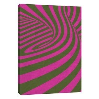 """PTM Images 9-109012  PTM Canvas Collection 10"""" x 8"""" - """"Pink Swirls D"""" Giclee Abstract Art Print on Canvas"""