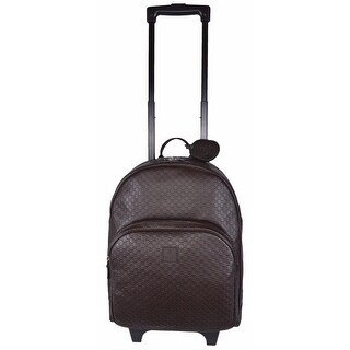 Gucci Children's Leather GG Guccissima Wheeled Trolley Backpack Suitcase