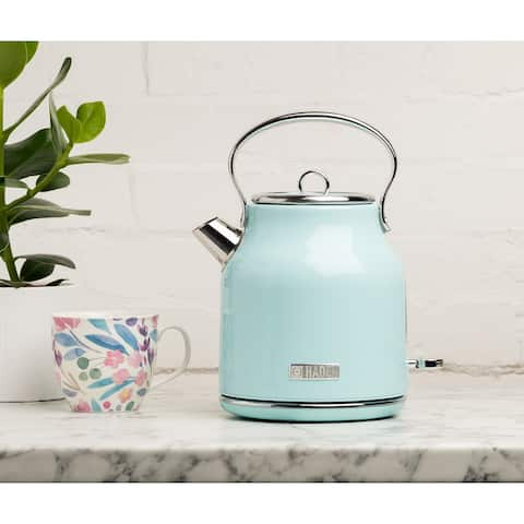 Haden Heritage 1.7L Stainless Steel Electric Tea Kettle