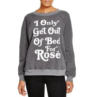 Wildfox Couture Womens Pullover Sweater Knit Printed