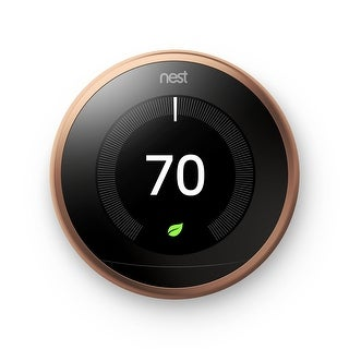 Nest (T3021US) Learning Thermostat, Easy Temperature Control, Copper (Third Generation)