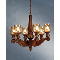 Meyda Tiffany 71471 6-Light Up Lighting Chandelier from the Kendall Collection - portsmouth cherry