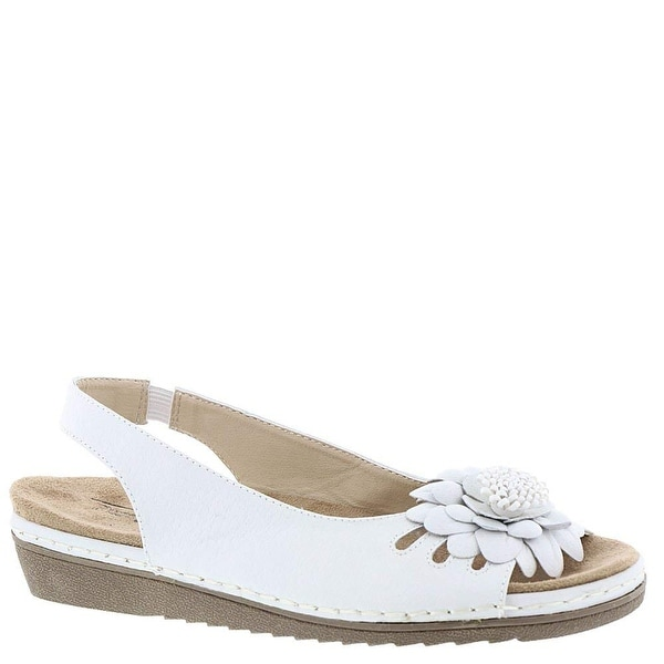 Beacon Womens Sugar Leather Open Toe Casual Slingback Sandals