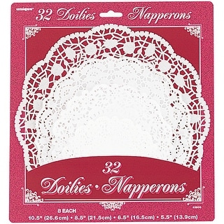 Paper Doilies-Assorted Round White 32/Pkg