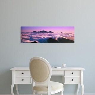 Easy Art Prints Panoramic Images's 'Mountaintop Cloudscape Japan' Premium Canvas Art