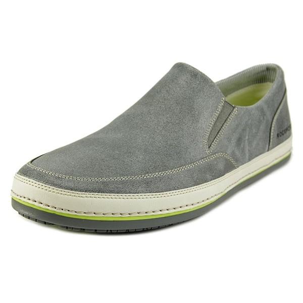 Rockport Harbor Point Slip On Men  Round Toe Leather Gray Loafer