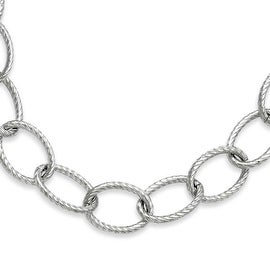 Stainless Steel Oval Link 20in Necklace (12 mm) - 20 in