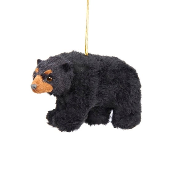 Shop Club Pack of 12 Woodland Plush Black Bear Christmas Ornaments 4.5'' - Free Shipping Today - Overstock - 18185237