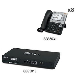 AT&T SB35010 + (8) SB35031 Syn248 Wall Mountable Business Telephones New