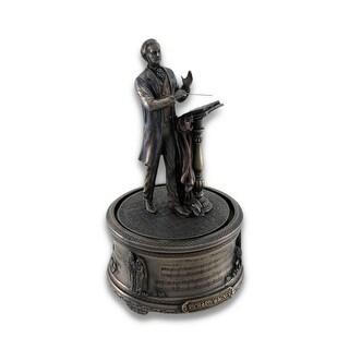 Bronzed Richard Wagner Bridal Chorus Music Box