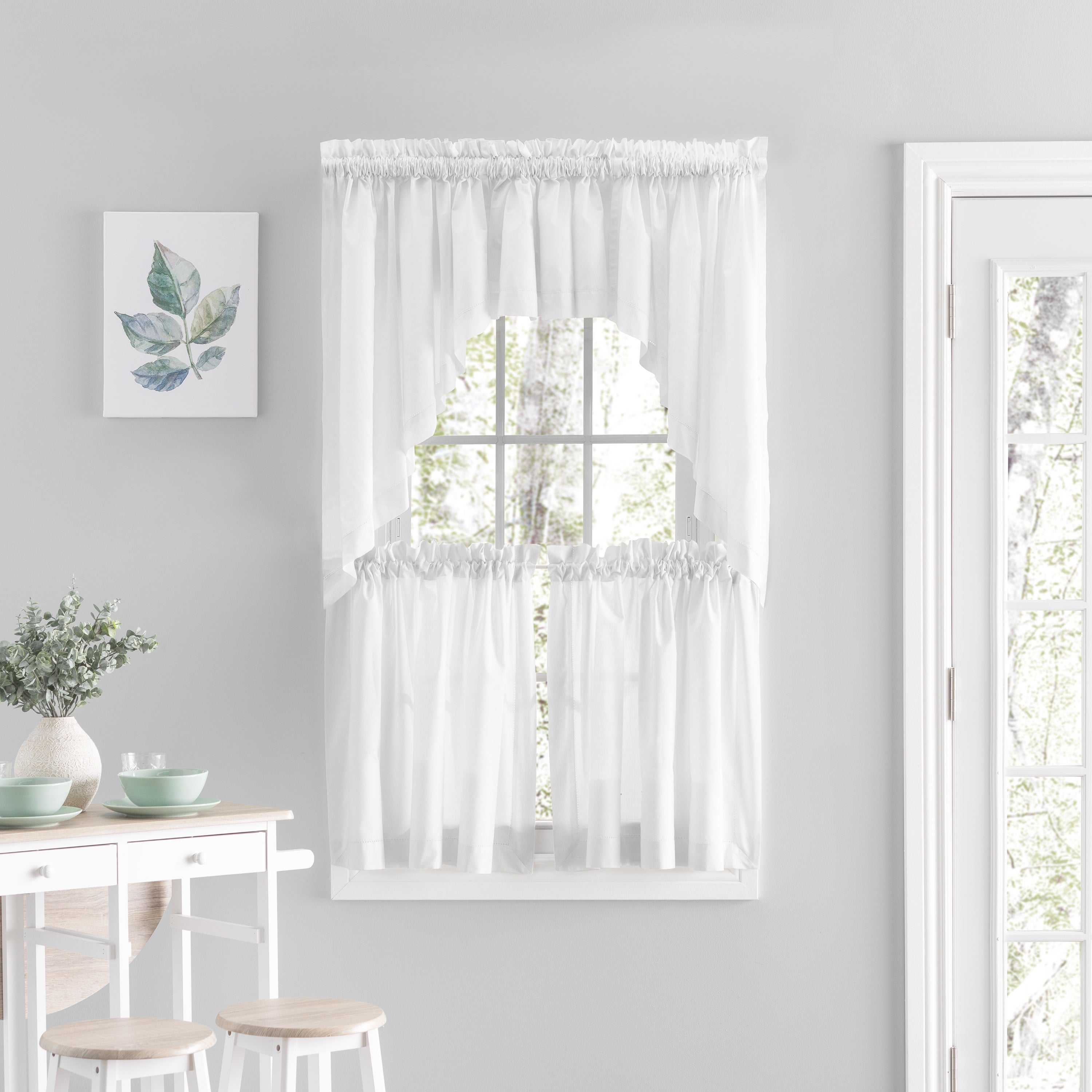 Simplicity Rod Pocket Kitchen Curtains Tier Swag Or Valance Sold Separately Overstock 31826739