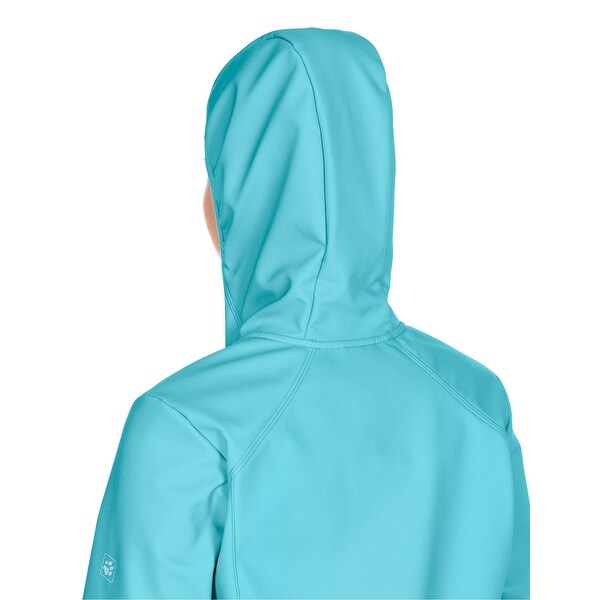Jack Wolfskin NEW Icywater Blue Womens Size XS Full Zip Softshell Jacket