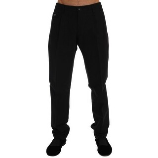 Dolce & Gabbana Dolce & Gabbana Black Striped Cotton Pants - it50-l