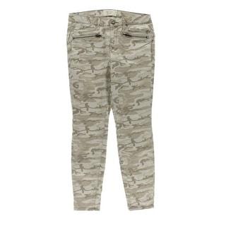 Rachel Roy Womens Cargo Mid-Rise Camouflage Skinny Pants - 30