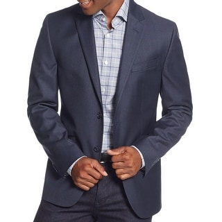 Kenneth Cole New York Mens Two-Button Blazer Lined Slim Fit