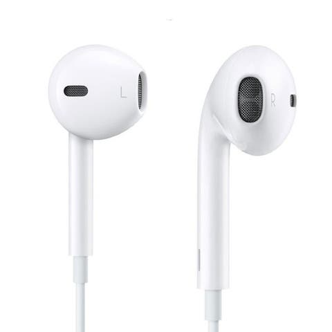 EarPods with Remote and Mic compatible with iPhone & iPad - White - 5 X 6 X 1