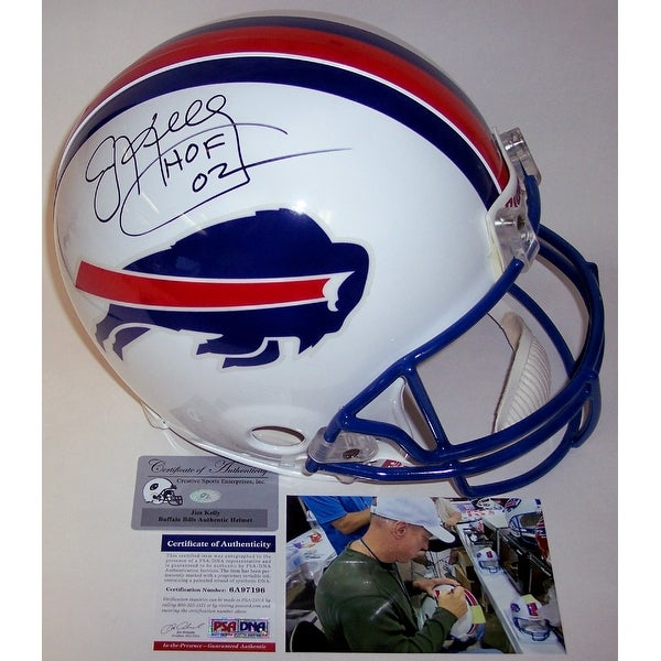 Shop Jim Kelly Autographed Hand Signed Buffalo Bills Throwback  for sale