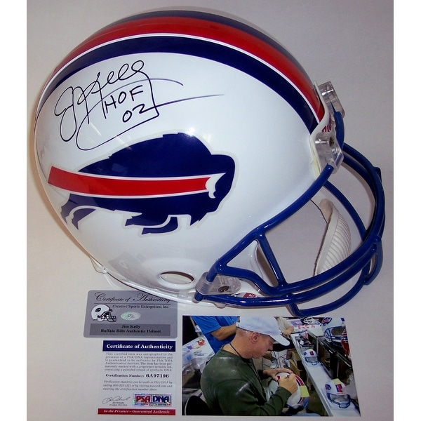 Shop Jim Kelly Autographed Hand Signed Buffalo Bills Throwback