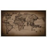 Poster Print entitled Antique world map - multi-color