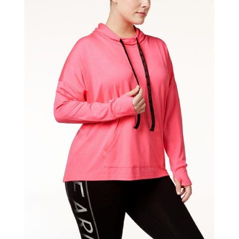 Material Girl Women's Active Plus Size Pullover Hoodie (2XL)