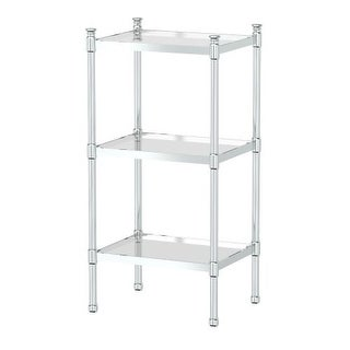 Gatco 1351 Traditional 3-Tier Chrome Rectangle Cabinet