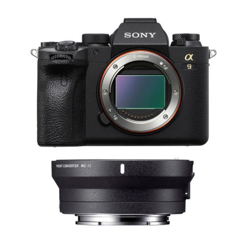 Sony Alpha a9II Camera with Lens Converter (Canon EF to Sony E-Mount)