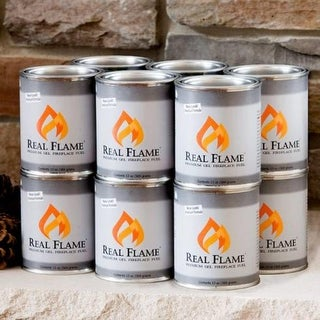 Real Flame 2116 16-Pack of 13 Ounce Fuel Cans - Silver