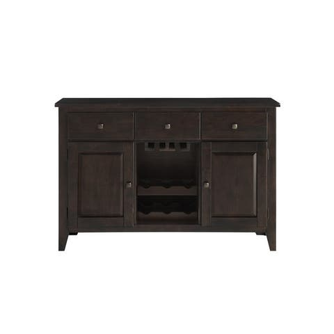 Porch & Den Lamar Casual 3-Drawer 2-Door 2-Shelves Buffet