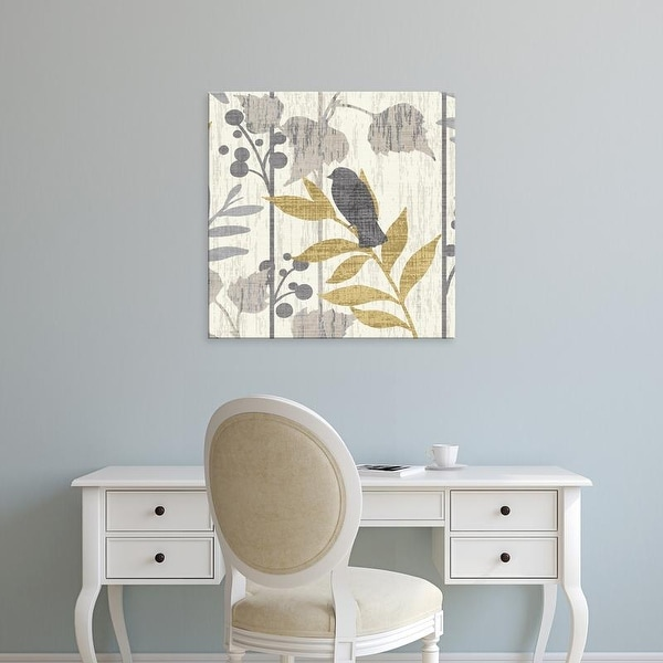 Easy Art Prints Wild Apple's 'Garden Leaves Square VI' Premium Canvas Art