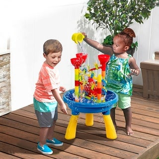Link to Gymax 2 in 1 Sand and Water Table Activity Play Center Kids Splash Similar Items in Outdoor Play