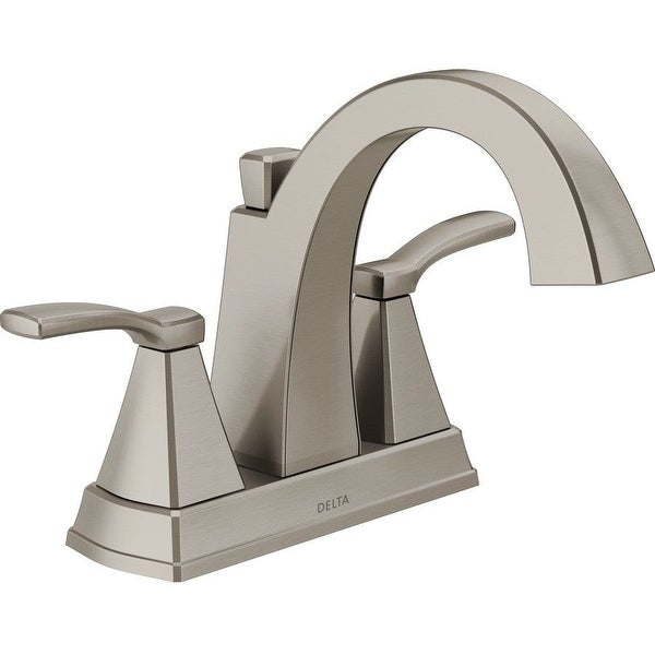 Shop Delta 25768LF-SS Flynn Two-Handle Centerset Bathroom Faucet, Brushed Nickel - Free Shipping Today - Overstock - 25409110