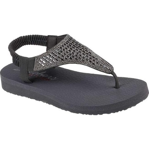 c59fccb087e9 Shop Skechers Women s Meditation Rock Crown Thong Sandal Charcoal ...