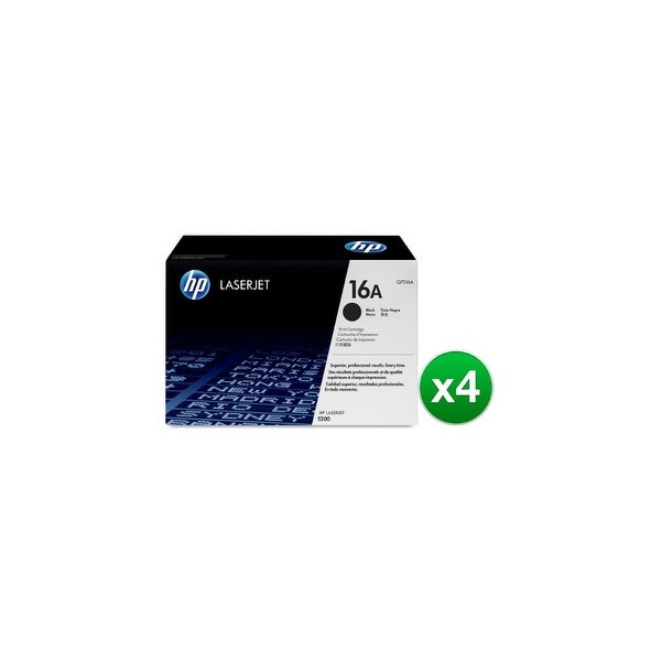 HP 16A Black Original LaserJet Toner Cartridge (Q7516A)(4-Pack)