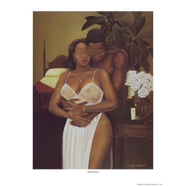 ''Anniversary'' by Ernest Watson African American Art Print (12.5 x 9.5 in.)