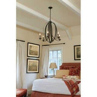 Jeremiah Lighting 37026 Ensley 6 Light Candle Style Chandelier - 28 Inches Wide