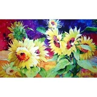 Custom Printed Rugs AWV080 Summer Sunflower 18 x 30 in. Doormat Rug - Gold & Yellow Green Yellow
