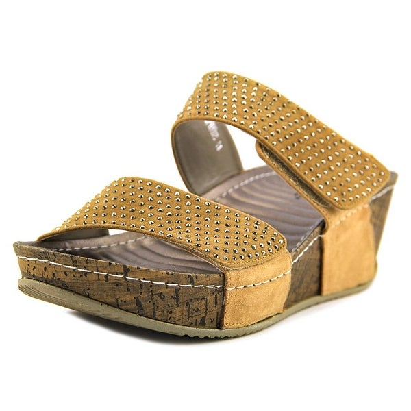 Patrizia By Spring Step Delphine Women Open Toe Synthetic Wedge Sandal